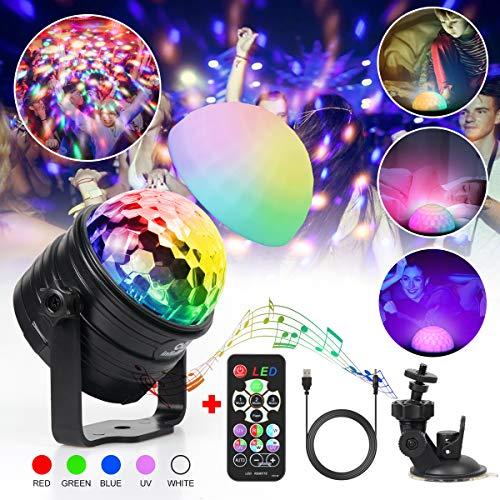 Discokugel Kinder infinitoo LED Discolicht Musikgesteuert RGB Lichteffekte Disco Partylicht mit Fernbedienung | USB Stimmungslicht Nachtlicht für Kinder, Party Leuchte Deko