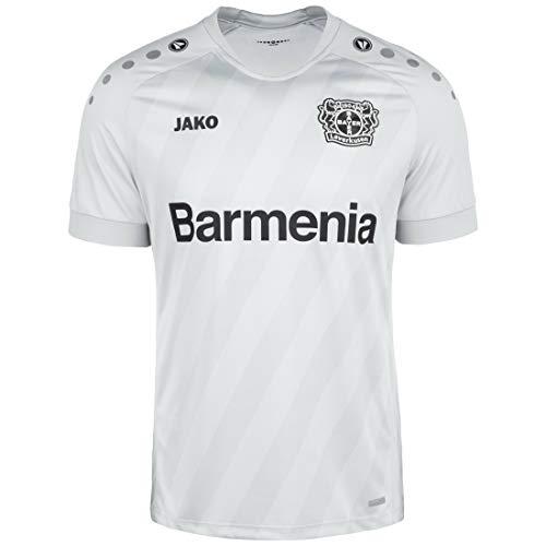 JAKO Herren Ausweich, (Saison 19/20) Bayer 04 Leverkusen Trikot, grau, XXL