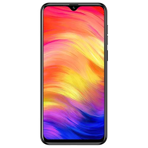 Ulefone Note 7 Smartphone (Android 9.0 Handy, 16GB interner Speicher, 15,49cm (6,1 Zoll) Display, 8MP+2MP+2MP Rückkamera, DuaL SIM, Face ID) - Schwarz