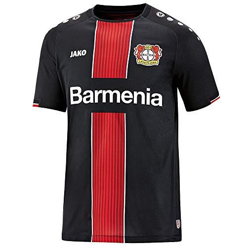 JAKO Fußball Bayer 04 Leverkusen Away Trikot 2019 2020 Herren Auswärtstrikot Kurzarm schwarz Gr XL