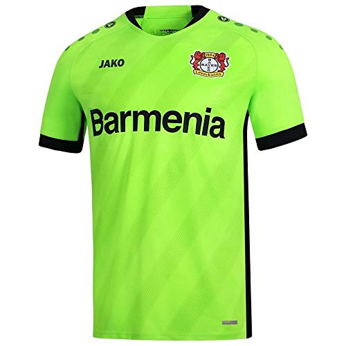 JAKO Bayer 04 Leverkusen Torwart Trikot Home 2019 2020 Herren Fußballshirt Kurzarm grün Gr S