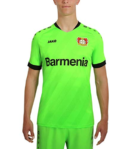 JAKO Kinder Home, (Saison 19/20) Bayer 04 Leverkusen Tw Trikot, neongrün, 128