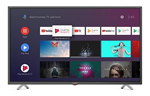 SHARP Android TV 40BL3EA 101 cm (40 Zoll) Fernseher (4K Ultra HD LED, Google Assistant, Amazon Video, Harman/Kardon Soundsystem, HDR10, HLG, Bluetooth)