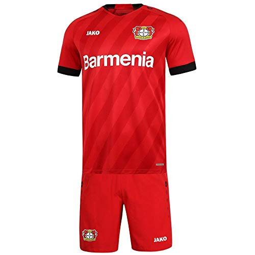 JAKO Kinder Home, (Saison 19/20) Bayer 04 Leverkusen Minikit, rot, 116