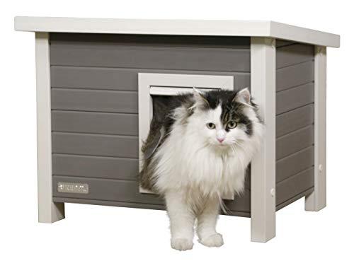 Kerbl ECO-Katzenhaus Eli (Katzenhaus, Haus für Katzen, 57x45x43 cm) 81636