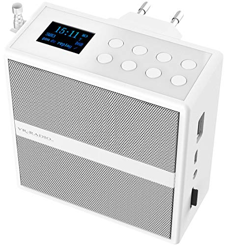 VR-Radio Badradio: Steckdosenradio mit DAB+/FM, Bluetooth, USB, Freisprecher & Akku, 6 W (Badradio DAB+)
