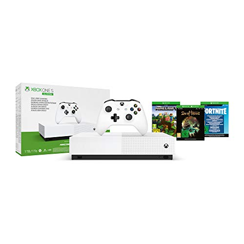 Xbox One S 1TB All Digital Edition Konsole inkl. Minecraft, Sea of Thieves, Fortnite-Skin und 2,000 V-Bucks