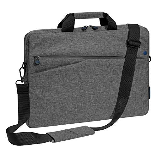 PEDEA Laptoptasche Fashion Notebook-Tasche bis 13,3 Zoll (33,8 cm) Umhängetasche mit Schultergurt, grau/blau