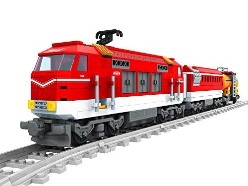 Modbrix Bausteine Zug DB Lok 187 mit Zwei Güterwagen und Schienenset