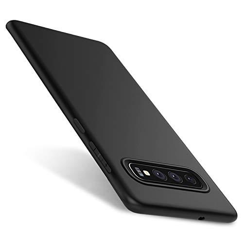 Whew Matt Schwarz Kompatibel mit Samsung Galaxy S10 Hülle, Ultra Dünn S10 Handyhülle,Anti-Fingerabdruck, Hohe Zähigkeit Kratzfest Weich Silikon Schutzhülle, Soft TPU Samsung Galaxy S10 Hülle - Black