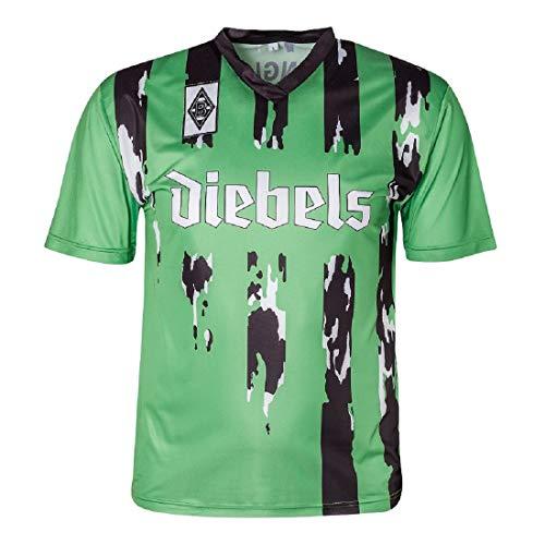Score Draw Herren Retro - Trikot Borussia Mönchengladbach | Auswärtstrikot 1995 in Grün, Größe: XXL