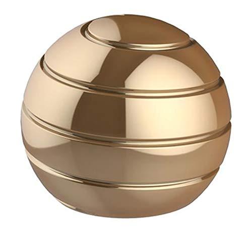 CaLeQi Kinetic Schreibtischspielzeug Office Metal Spinner Ball Gyroskop mit optischer Täuschung für Anti-Angst Stress abbauen Inspirieren Sie innere Kreativität