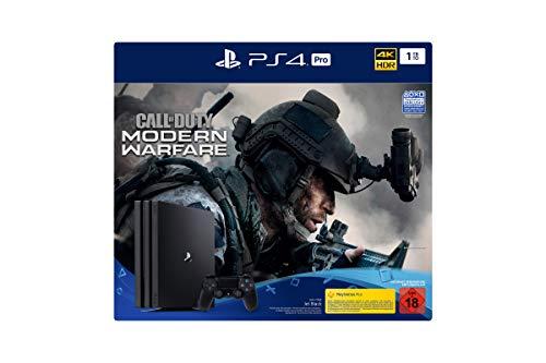 PlayStation 4  Pro - Konsole inkl. Call of Duty - Modern Warfare (1TB, schwarz, Pro)