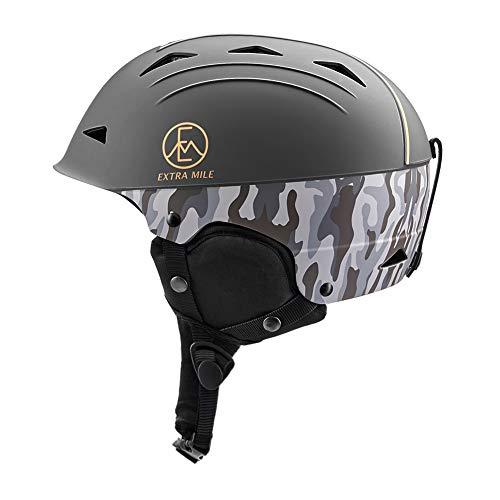 Extra Mile Skihelm Ski Helm,Snowboardhelm Verstellbare Größe für Herren und Damen, Snowboard Helm für Jungen mit Abnehmbarem Innenfutter und Ohrenschützer für Ski, Snowboard und Skifahren