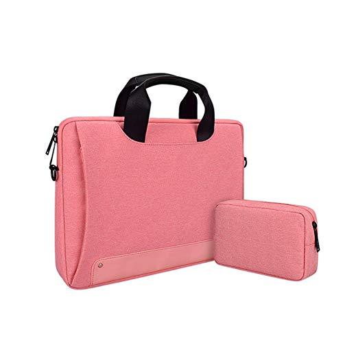 """Laptop Tasche 13.3-15.6 Zoll Notebooktasche Aktentasche Tasche Wasserabweisend Bussiness Laptoptasche für Frauen und Männer(mit kleiner Tasche),Rosa,15.4"""""""
