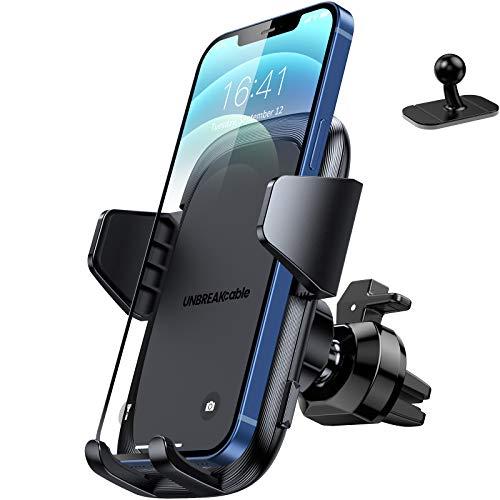 UNBREAKcable Handyhalterung Auto Lüftung & Armaturenbrett [Upgrade 3.0 Neueste] Handyhalter fürs Auto Silikonschutz Universale Smartphone Halterung Auto zubehör für iPhone Samsung Huawei Google LG
