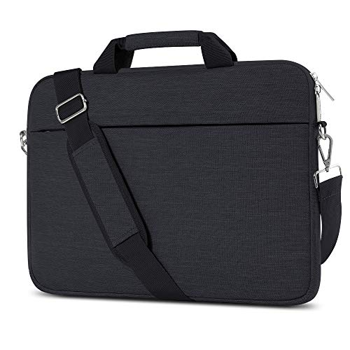 AtailorBird Laptophülle, Laptoptasche 15-15,6 Zoll mit Schulterriemen&Gepäckgurt,15,6 Zoll Tragbar Notebooktasche kompatibel PC Laptop Schutztasche Asus Dell Fujitsu Lenovo HP Toshiba (Schwarz)