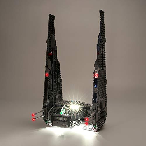 YOU339 LED Licht Set für Lego Kylo Rens Command Shuttle 75104, USB betriebenes LED Licht Kleines Teilchen, BAU Baustein Montage Spielzeug Kit (LED Licht Enthalten Nur)