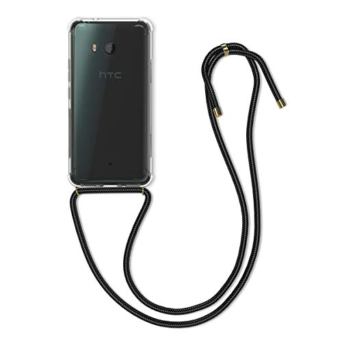 kwmobile Necklace Case kompatibel mit HTC U11 - Hülle Silikon mit Handykette - Band Handyhülle Transparent