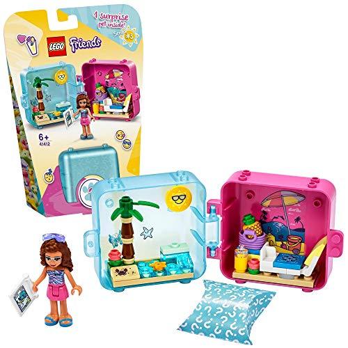 LEGO 41412 Friends Olivias magischer Sommer-Würfel, Strandtag; Bauset, Sammler-Mini-Set Reisespielzeug