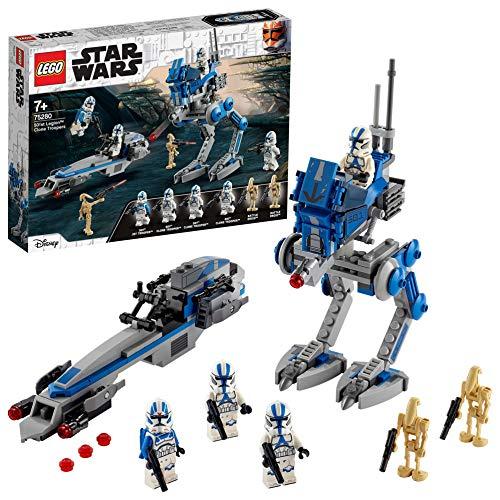 LEGO 75280 Star Wars Clone Troopers der 501. Legion, Bauset mit Kampfdroiden und AT-RT Walker