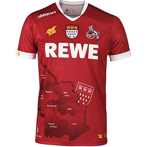 uhlsport 1. FC Köln Karneval Trikot 19/20 Limitiert (L, rot)