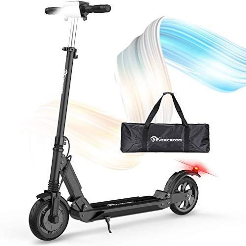 RCB Elektroroller Erwachsene Electric Scooter 30 km/h, 350W Motor, Anti-Rutsch-Reifen und LCD-Bildschirm, wasserdicht, E-Scooter für Erwachsene und Jugendliche (Black)