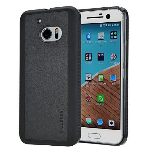Mulbess Handyhülle für HTC 10 Hülle, Shockproof Soft TPU Silikon Case Schutzhülle Handytasche für HTC 10 Tasche, Schwarz