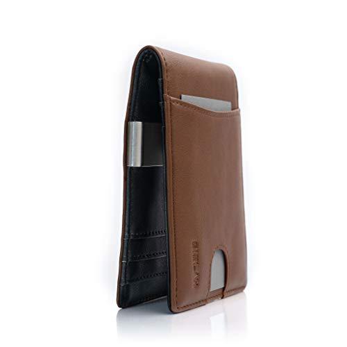 GISLAH Geldbörse | mit Edelstahl Geldklammer | hochwertige Brieftasche im eleganten Design | RFID geschütztes Portmonee | der ideale Begleiter für Freizeit und Business