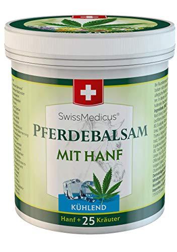 SwissMedicus Pferdebalsam mit Hanf kühlend - Massage creme für Muskeln und Bänder - ideal für Sportler - natürliche Pflanzenextrakte - 250 ml