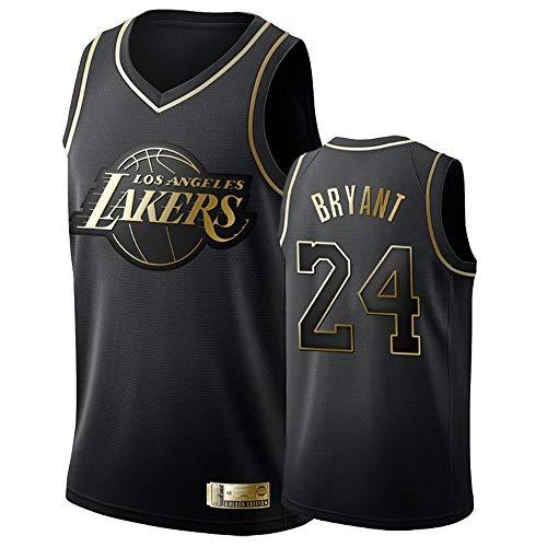 Herren Basketball Weste Jerseys Los Angeles Lakers 24# Bryant Jersey Atmungsaktiv Mesh Basketball Swingman Stickerei Trikots