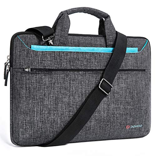 "DOMISO 15-15,6 Zoll Laptoptasche Notebooktasche Wasserdicht Aktentasche Tragetasche Schultertasche für 15.6"" Lenovo IdeaPad S510 ThinkPad E575/HP Pavilion 15 Envy 15/Dell XPS 15/Acer/Asus,Blau"