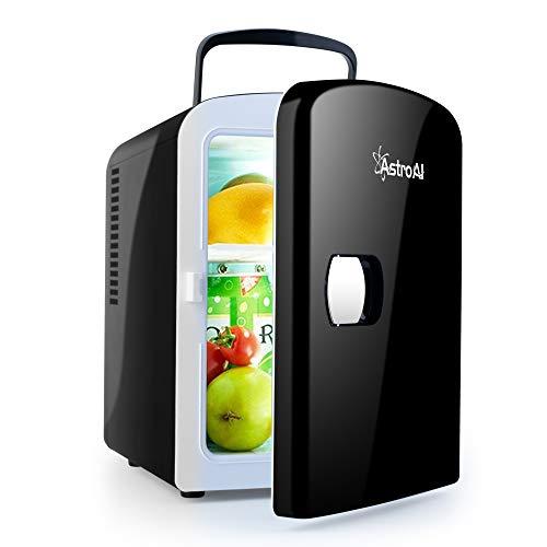 AstroAI 2 in 1 Mini Kühlschrank 4 Liter mit Kühl- und Heizfunktion 12 Volt am Zigarettenanzünder und 230 Volt Steckdose für Autos, Büros und Schlafsäle