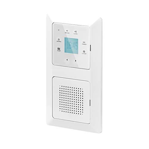 UNITEC Unterputz Radio mit Touchfunktion und Bluetooth, weiß, senkrecht und waagerecht montierbar