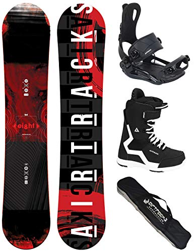 Airtracks Snowboard Set - Wide Board Eight 155 - Softbindung Master - Softboots Strong 43 - SB Bag