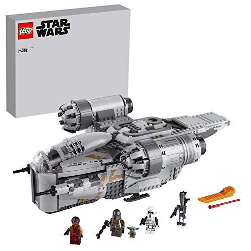 LEGO 75292 Star Wars Razor Crest Raumschiff Spielzeug mit dem Kind als Minifigur, seltenes Set