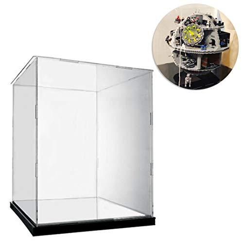 Seciie Acryl Vitrine Schaukasten HD Schön Display Case für Lego Star Wars Todesstern 75159 Death Star