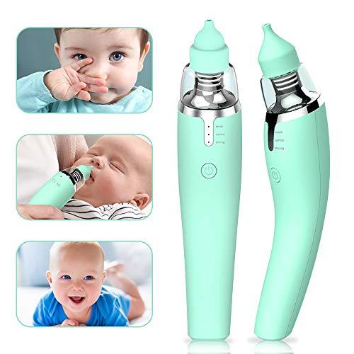 Nasensauger Baby, Nasal Aspirator USB Nasenschleimentferner mit 3 Saugstärken und 2 Tipps Sicherheit Hygienisch für Neugeborene und Kleinkinder