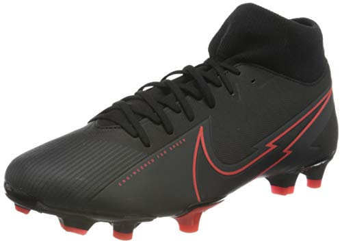Nike Unisex Superfly 7 Academy FG/MG Football Shoe, Black/Black-Dark Smoke Grey-Chile Red, 44 EU