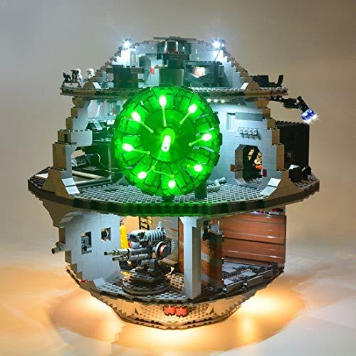TopBau Beleuchtungsset LED-Kabel Set für Lego Star Wars Todesstern, Upgrade LED Licht Set, Kompatibel mit Lego 75159