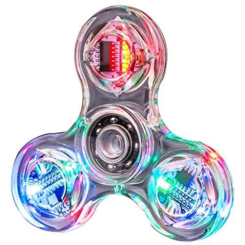 VVXXMO Fidget Toys Hand Spinner Finger Spielzeug,LED Zappeln Spinner Im Dunkeln Leuchten EDC Stress Relief Luminous Fidget Toy Für Kinder Und Erwachsene Spielzeug Geschenke