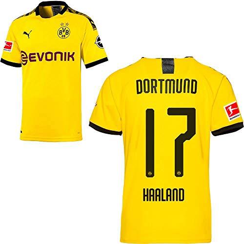 PUMA Borussia Dortmund BVB Heimtrikot 2019 2020 Home Trikot Sponsor BL Logo Herren Erling Haaland 17 Gr M