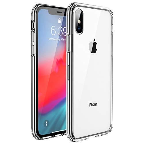 UNBREAKcable Kompatibel mit iPhone X Hülle, iPhone XS Hülle [Anti-Gelb & Kratzfest] - Handyhülle iPhone X/XS, Hartplastik Rückseite & Weich Silikon Bumper Durchsichtig Schutzhülle, Case – Transparent
