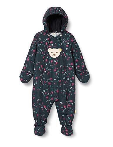 Steiff Baby-Unisex mit süßer Teddybärapplikation Schneeanzug, Navy, 062