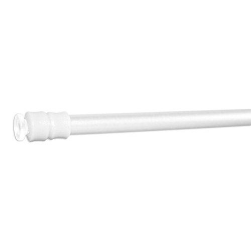 Klemmstange Klemmfix Flex für Scheibengardine Länge 100-140 cm Farbe weiß Fenster Gardine mit Schraubtechnik Ø 6/8 mm - ohne bohren
