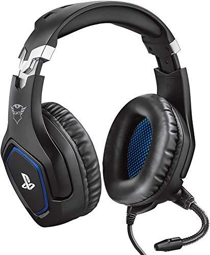 Trust Gaming GXT 488 Forze - Offiziell lizenziert für PlayStation - Gaming Headset für PS4 und PS5 mit klappbarem Mikrofon und einstellbarem Kopfbügel - Schwarz