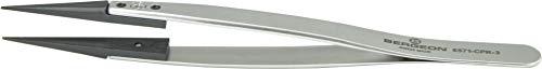 Bergeon 6571-CPR-3 Kornzange, Pinzette, für Kleinteile, Uhrenreparatur, mit angesetzten Enden, Uhrmacherwerkzeug