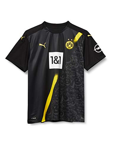 PUMA Herren BVB Away Shirt Replica SS w.Sponsor New T Black, M