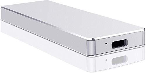 Externe Festplatte, 1 TB/2 TB, ultradünn, für PC, Laptop und Mac silber 2 TB