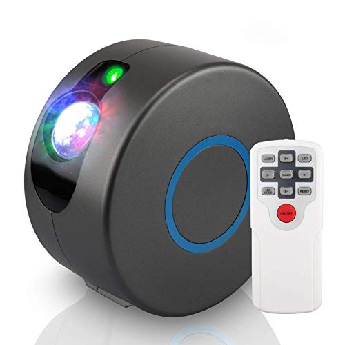 YIKANWEN Sternen Projektor, Farblicht-LED Projektor mit Sternnebel/Galaxie Projektion als atmosphärische Raumdekoration, Heimkino-Beleuchtung oder Schlafzimmer-Stimmungslicht